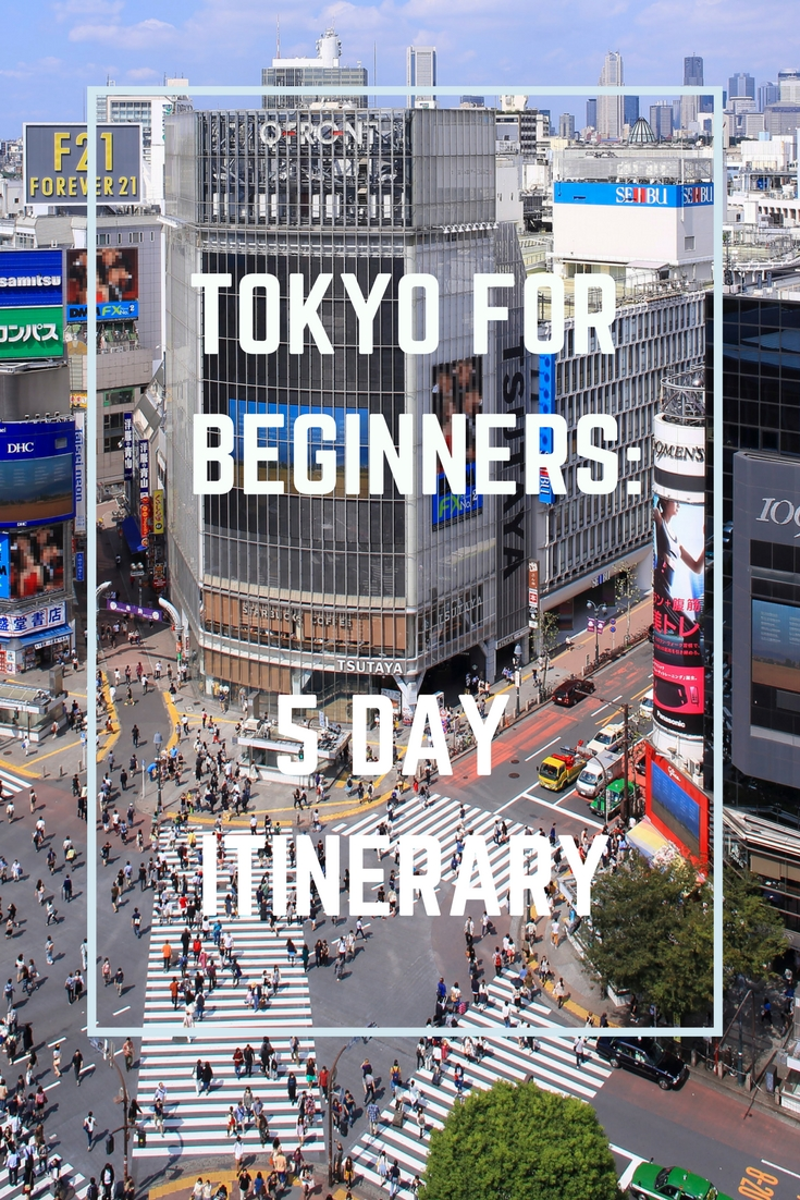 5 day tokyo itinerary for beginners